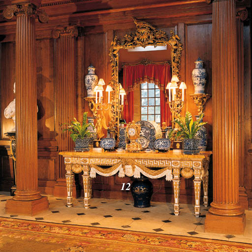 A GILTWOOD AND WHITE-PAINTED P