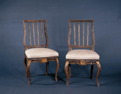 A SET OF FOUR ITALIAN STAINED