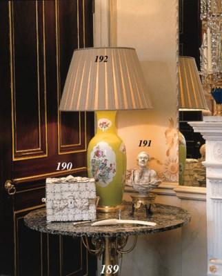 A PORCELAIN VASE TABLE LAMP