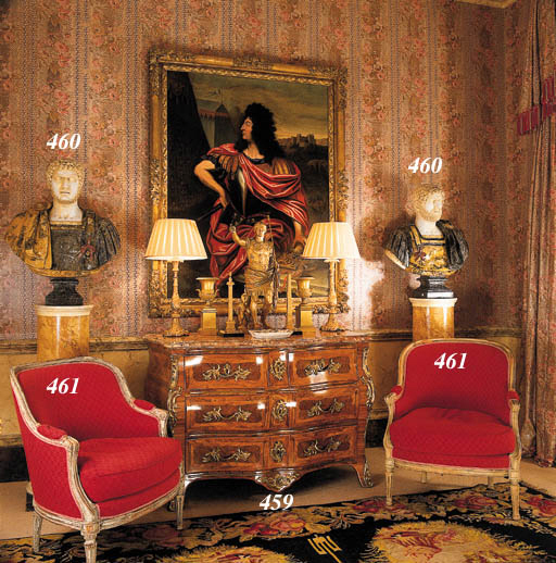 A PAIR OF FRENCH ORMOLU REDUCT