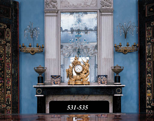 A PAIR OF ORMOLU AND GLASS WAL