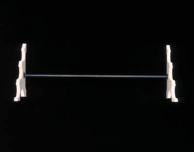 AN IVORY STAND FOR THREE FLUTES