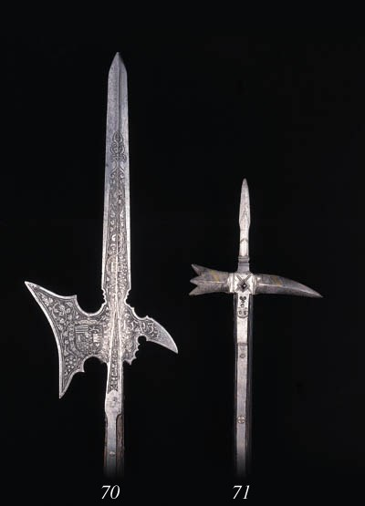 A GERMAN STATE HALBERD OF THE