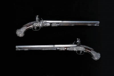 A PAIR OF 40-BORE BRESCIAN FLI