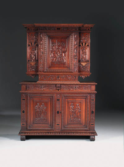 A FRENCH EBONY-INLAID AND GESS