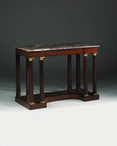 A Northern-European ormolu-mounted mahogany side table