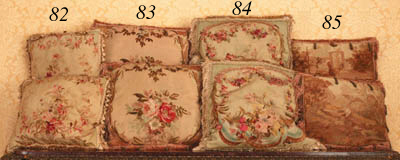 A pair of Aubusson tapestry cushions