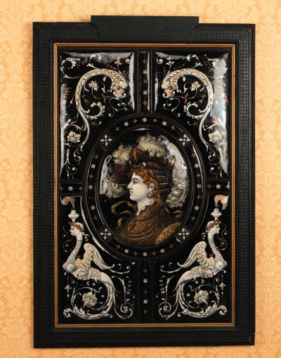 A large French framed Limoges