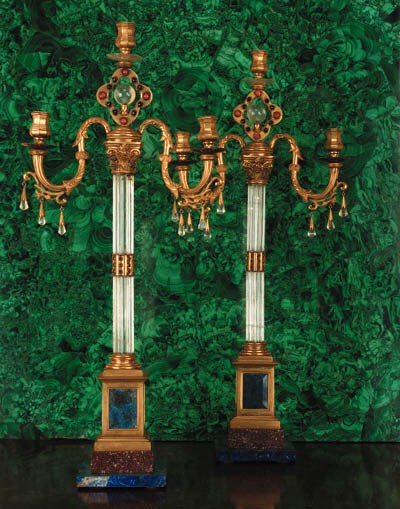 A pair of Baltic ormolu-mounte