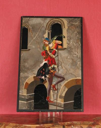 An Italian Pietra-Dura panel