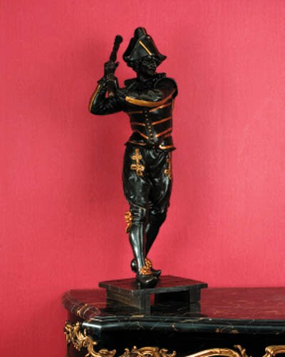 A French parcel-gilt patinated