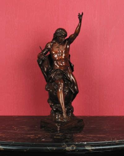 A French bronze figure emblema