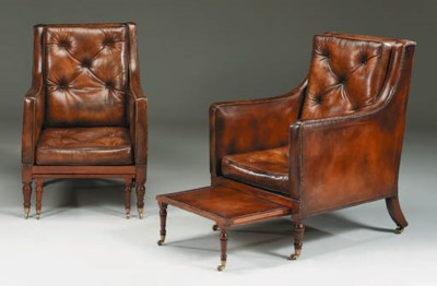 A PAIR OF GEORGE IV MAHOGANY B