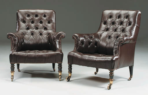 A PAIR OF MID-VICTORIAN EBONIS