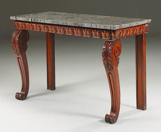 A GEORGE IV OAK SIDE TABLE