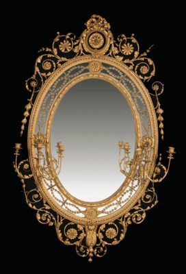 A LATE-VICTORIAN GILTWOOD AND