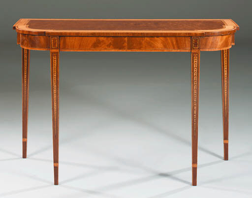 A GEORGE III MAHOGANY AND DECO