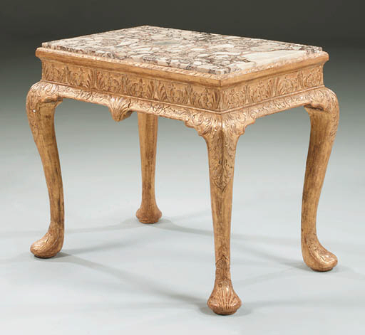 A GEORGE II GILT-GESSO STAND