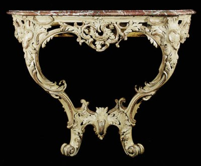 A LOUIS XV CREAM-PAINTED AND P
