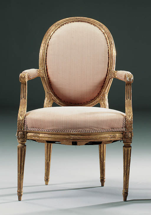 A PAIR OF LOUIS XVI GILTWOOD O