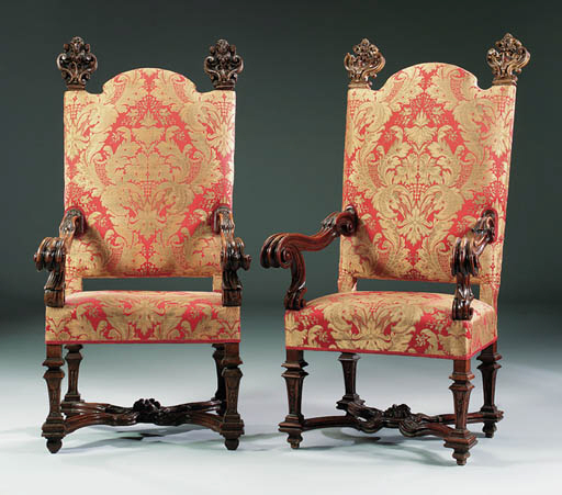A MATCHED PAIR OF ITALIAN WALN