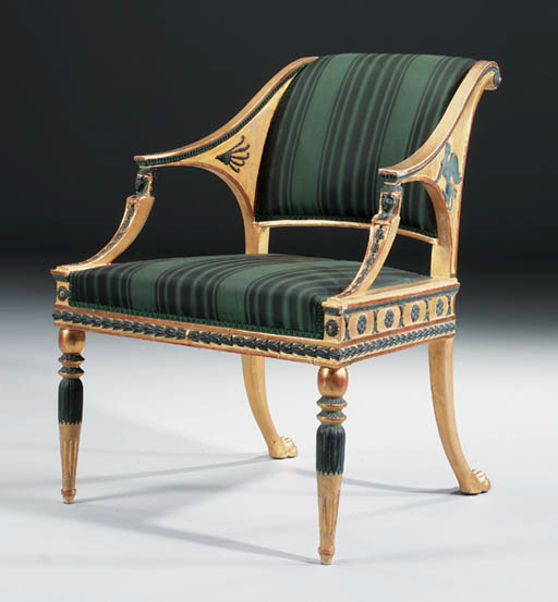 A SWEDISH GILTWOOD AND BRONZED