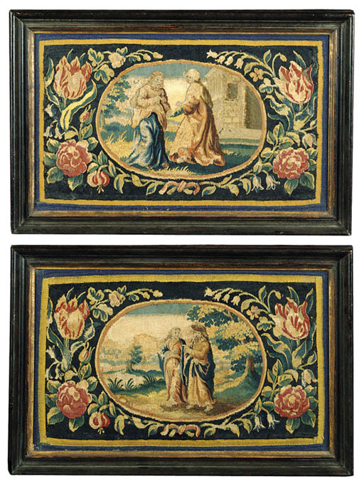 A PAIR OF FLEMISH BIBLICAL TAP