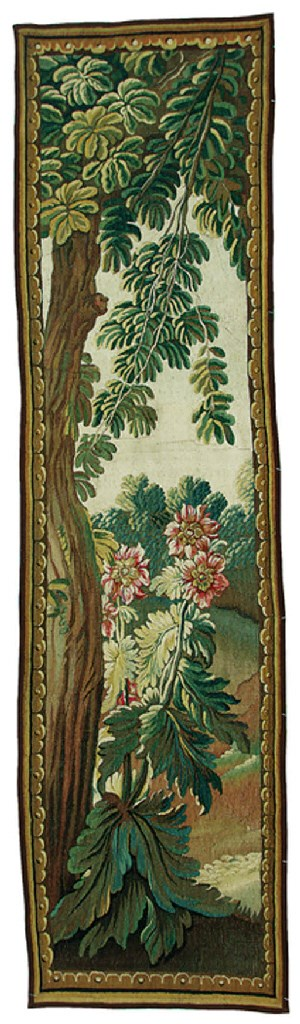 AN AUBUSSON VERDURE TAPESTRY P