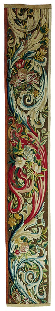 A BRUSSELS FLORAL TAPESTRY BOR