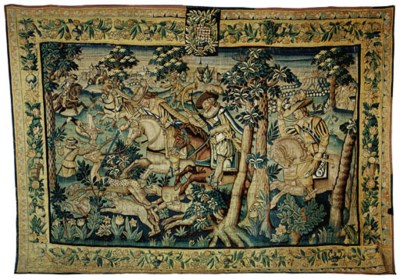 A MARCHE HUNTING TAPESTRY