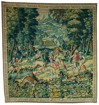 A FLEMISH GAME-PARK TAPESTRY