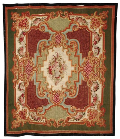 A NAPOLEON III AUBUSSON CARPET
