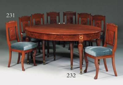 A SUITE OF EIGHT MAHOGANY SIDE