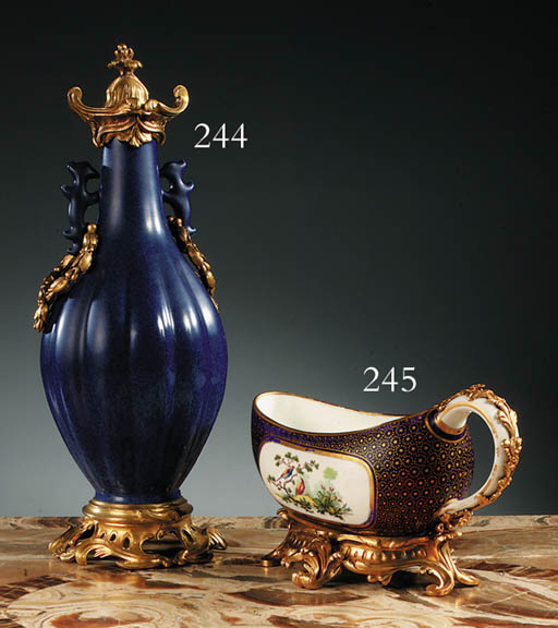 AN ORMOLU-MOUNTED SEVRES PORCE