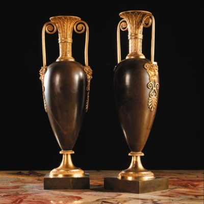 A PAIR OF DIRECTOIRE ORMOLU-MO