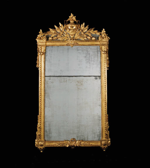 A LOUIS XVI GILTWOOD AND GREY-