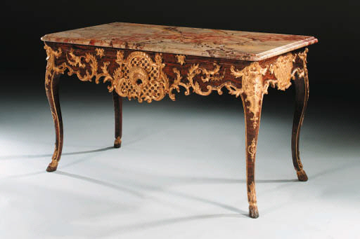 A LOUIS XV GRAINED AND PARCEL-