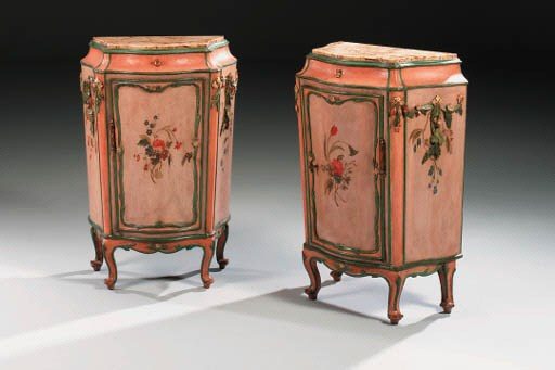 A PAIR OF VENETIAN PINK AND PO