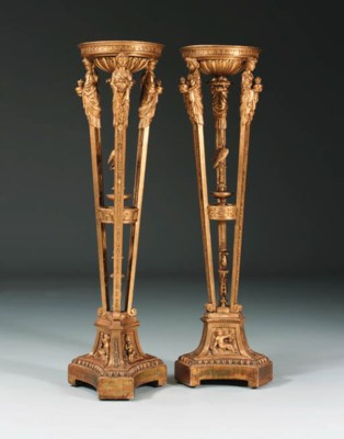 A PAIR OF GERMAN GILT-LEAD-MOU