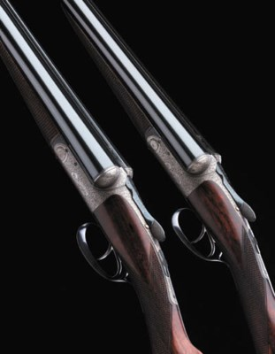 A FINE PAIR OF 12-BORE ROUND-A