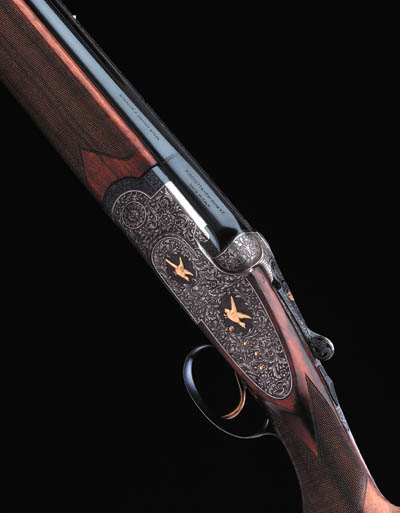 A FINE GOLD-ENCRUSTED 12-BORE