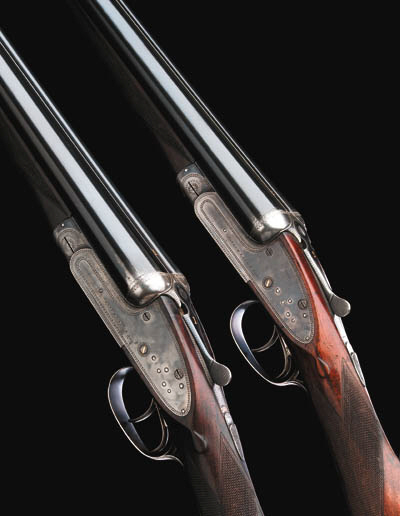 A PAIR OF 20-BORE SIDELOCK EJE