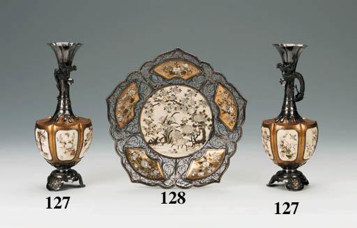 A pair of Shibayama vases