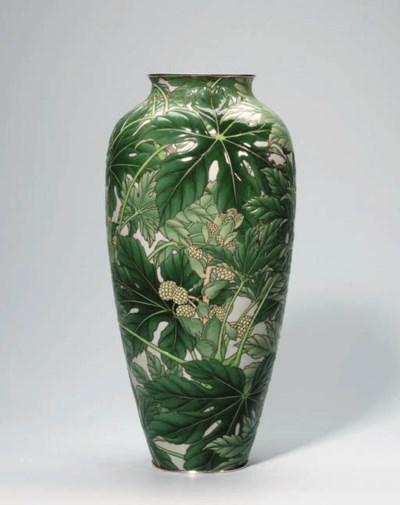 A  Moriage cloisonn vase