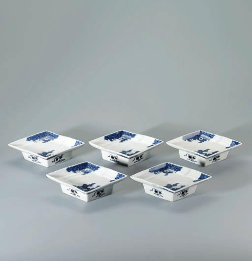 A set of five ko-sometsuke dis