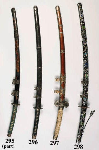 A TACHI AND A SWORD WITH A RAR