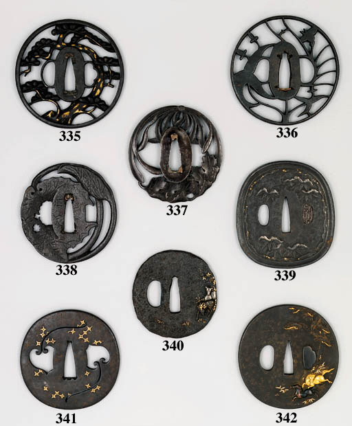 A SHOAMI TSUBA AND EIGHT OTHER