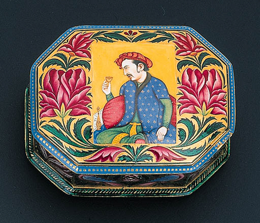 AN ATTRACTIVE ENAMELLED BOX
