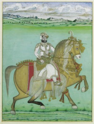 A Maharaja on horseback
