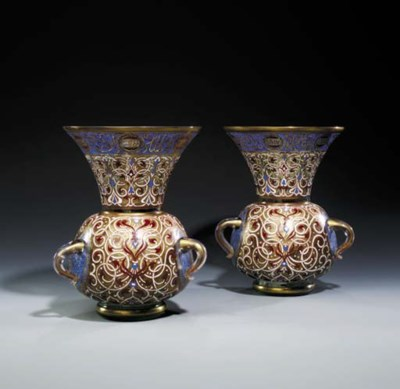 A PAIR OF MAMLUK STYLE MOSQUE